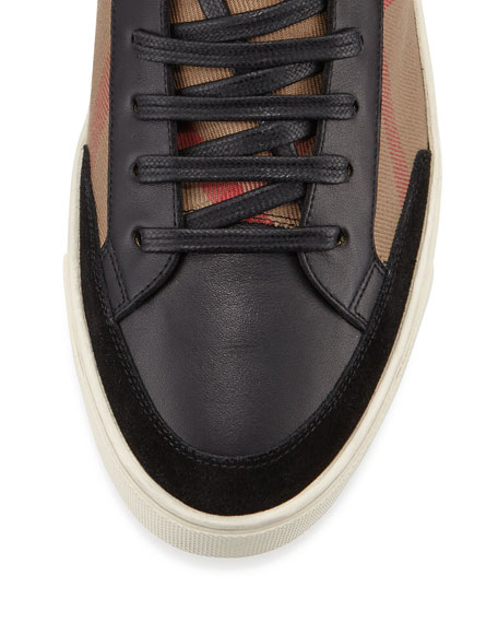 Painton Men's Check High-Top Sneaker, Black