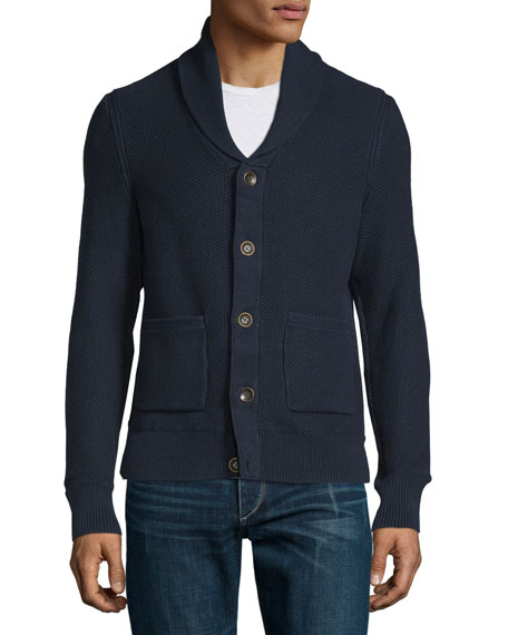 Rag Bone Avery Shawl Collar Knit Cardigan Navy Neiman Marcus
