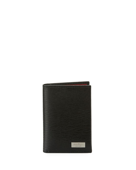 Salvatore Ferragamo Men's Revival Leather Bi-Fold Card Case,