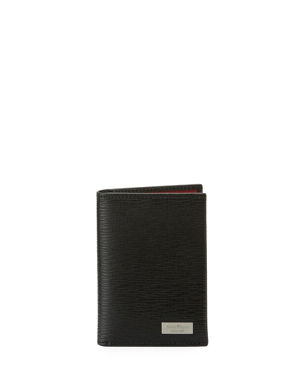 Salvatore Ferragamo Men s Revival Leather Bi-Fold Card Case 27e98e0921851