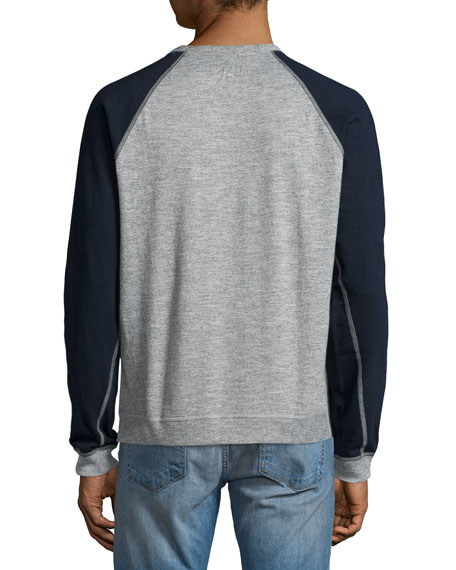 Men's Standard Issue Colorblock Raglan-Sleeve Baseball Shirt