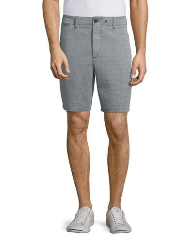 Matthew Straight-Leg Shorts, Black