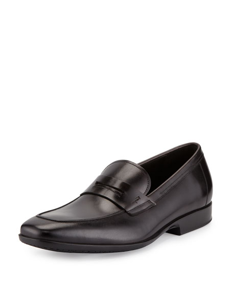 Salvatore Ferragamo Lancillotto Calfskin Penny Loafer on Rubber