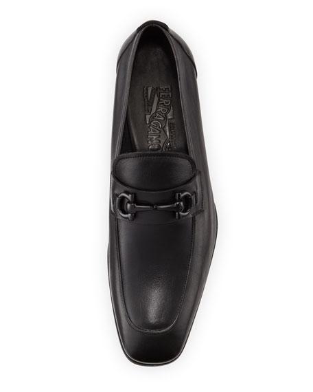 Soft Calfskin Gancini Loafer, Black