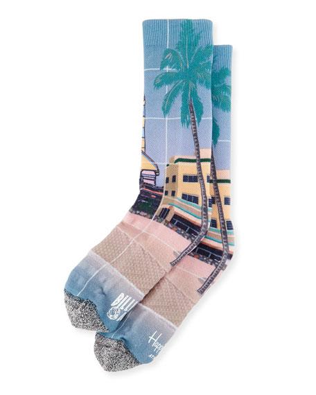 Billionaire Boys Club Palm Tree & Rocket Printed