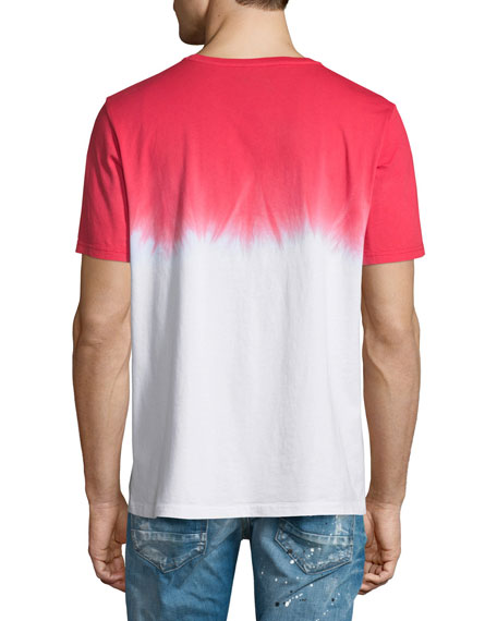 Vintage-Logo Tie-Dye Short-Sleeve T-Shirt, Red