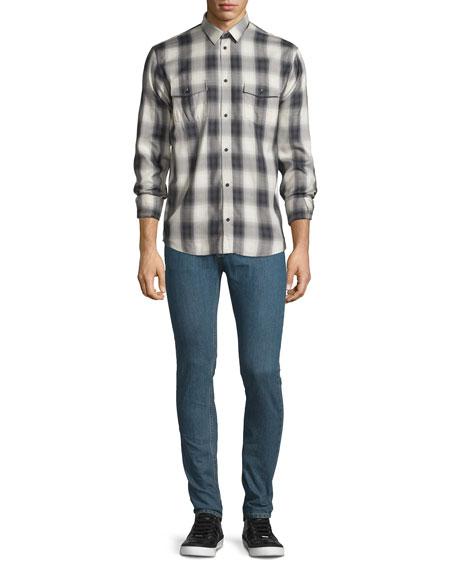Hopper Skinny-Leg Denim Jeans, Denim Blue