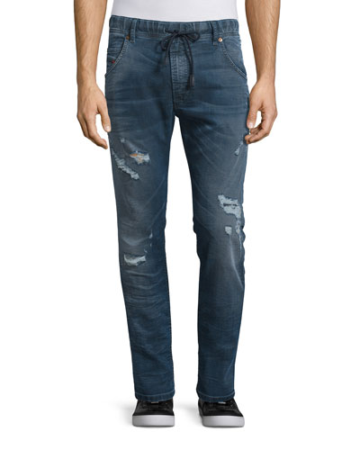 Krooley 0675 Distressed Jogger Jeans, Denim