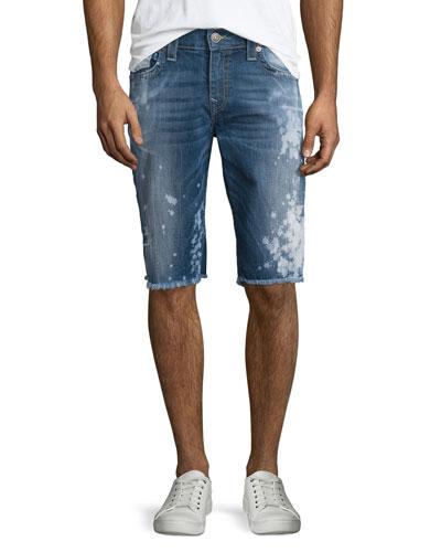 Ricky Distressed Cutoff Shorts, Indigo