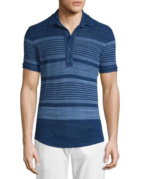 Orlebar Brown Sebastian Multi-Stripe Short-Sleeve Polo Shirt,