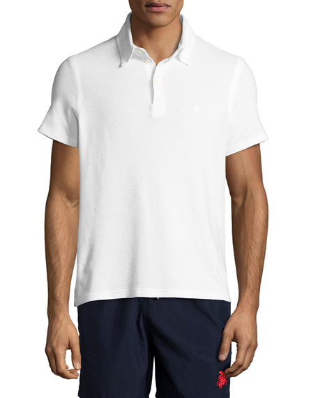 Terry Short-Sleeve Polo Shirt