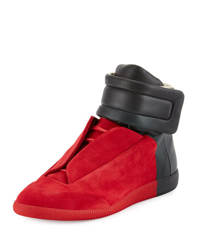 Future Colorblock High-Top Sneaker, Red/Black