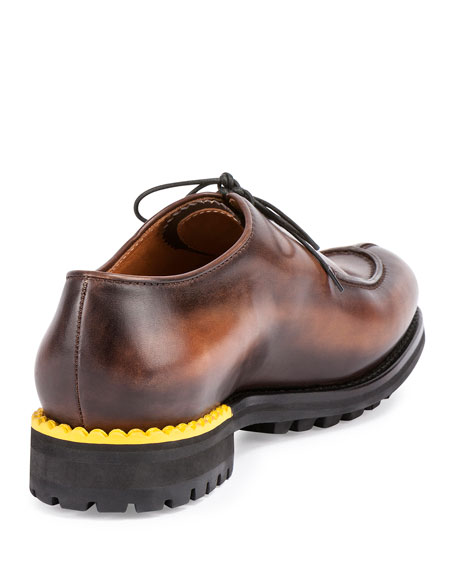 Lace-Up Leather Oxford, Brown