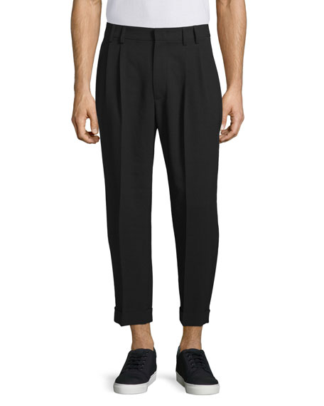 McQ Alexander McQueen Ash Straight-Leg Cropped Trousers, Darkest