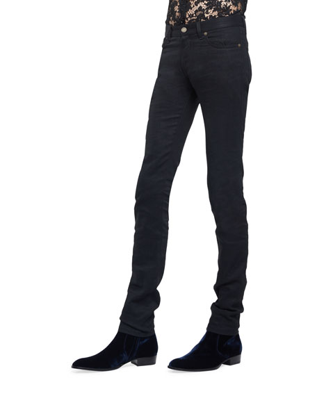 Raw Clean-Wash Skinny-Fit Denim Jeans
