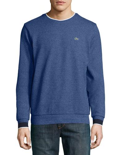 Semi-Fancy Piqué Sweatshirt, Navy Blue/Dark Gray