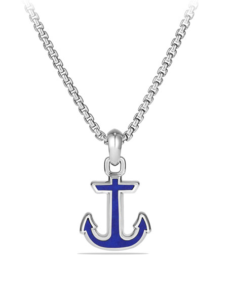 David Yurman Maritime Anchor Amulet w/Lapis Inlay