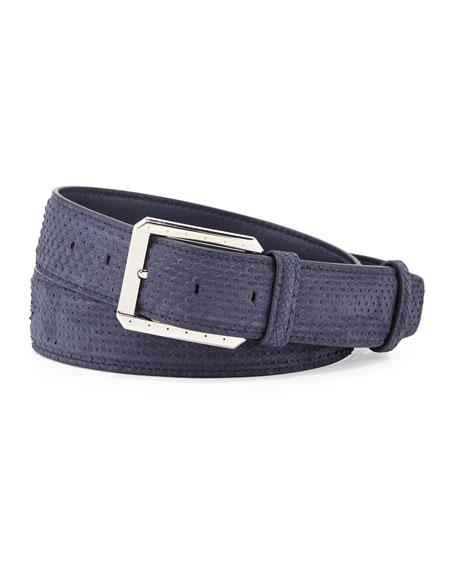 Python Belt w/Palladium Buckle