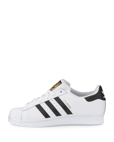 Men's Superstar Classic Leather Sneakers, White/Black