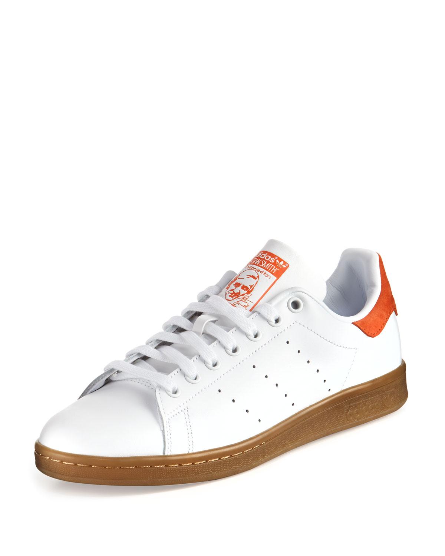 premium selection c68ae e822b Men's Stan Smith Perforated Leather Sneaker, White/Orange
