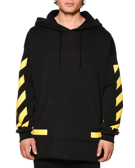 Grey and Yellow Arrows Hoodie Off-white Discount High Quality GweljDn