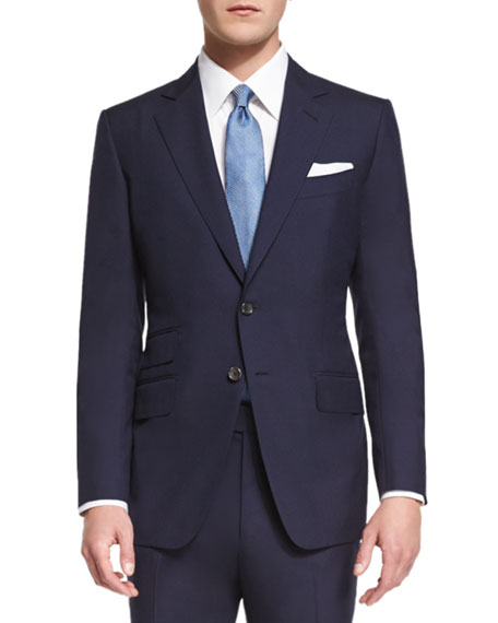 TOM FORD O'Connor Base Plain-Weave Sharkskin Two-Piece Suit,