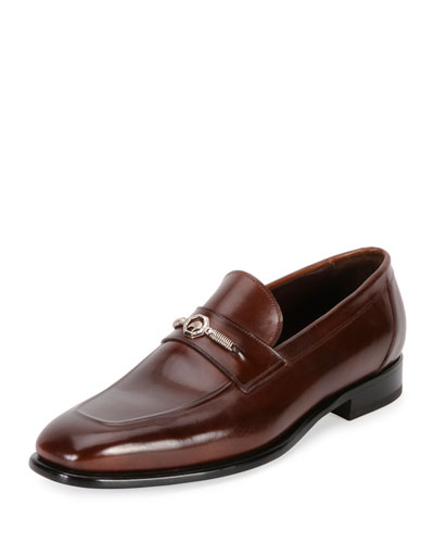 Calf Leather Classic Loafer, Brown