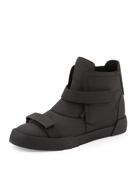 Giuseppe Zanotti Men's Shark Double-Strap Leather Sneaker Boots