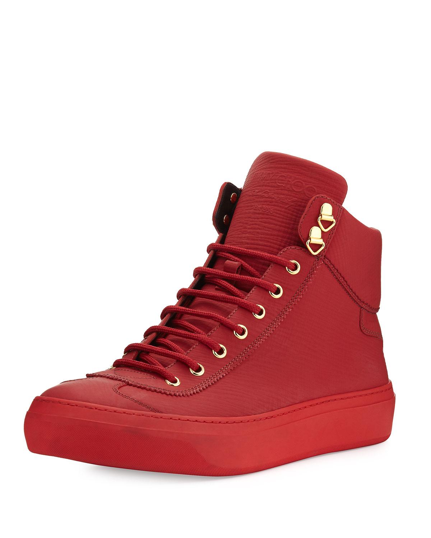 jimmy choo argyle men s textured leather high top sneaker neiman rh neimanmarcus com
