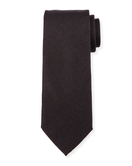 Woven Tone-on-Tone Dot Silk Tie
