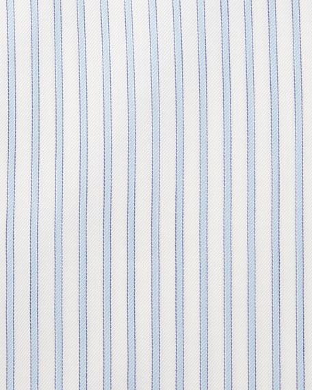 Slim-Fit Striped Trofeo Dress Shirt, White