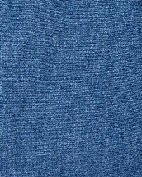 Long-Sleeve Denim Dress Shirt
