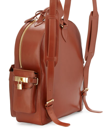 PHD Men's Calf Leather Backpack, Whisky