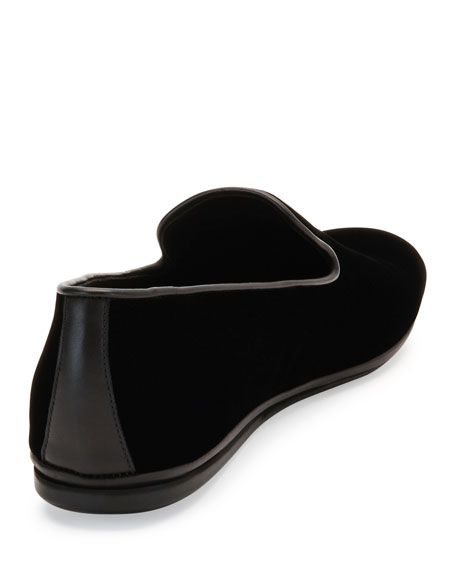Men's Velvet Venetian Loafer, Black
