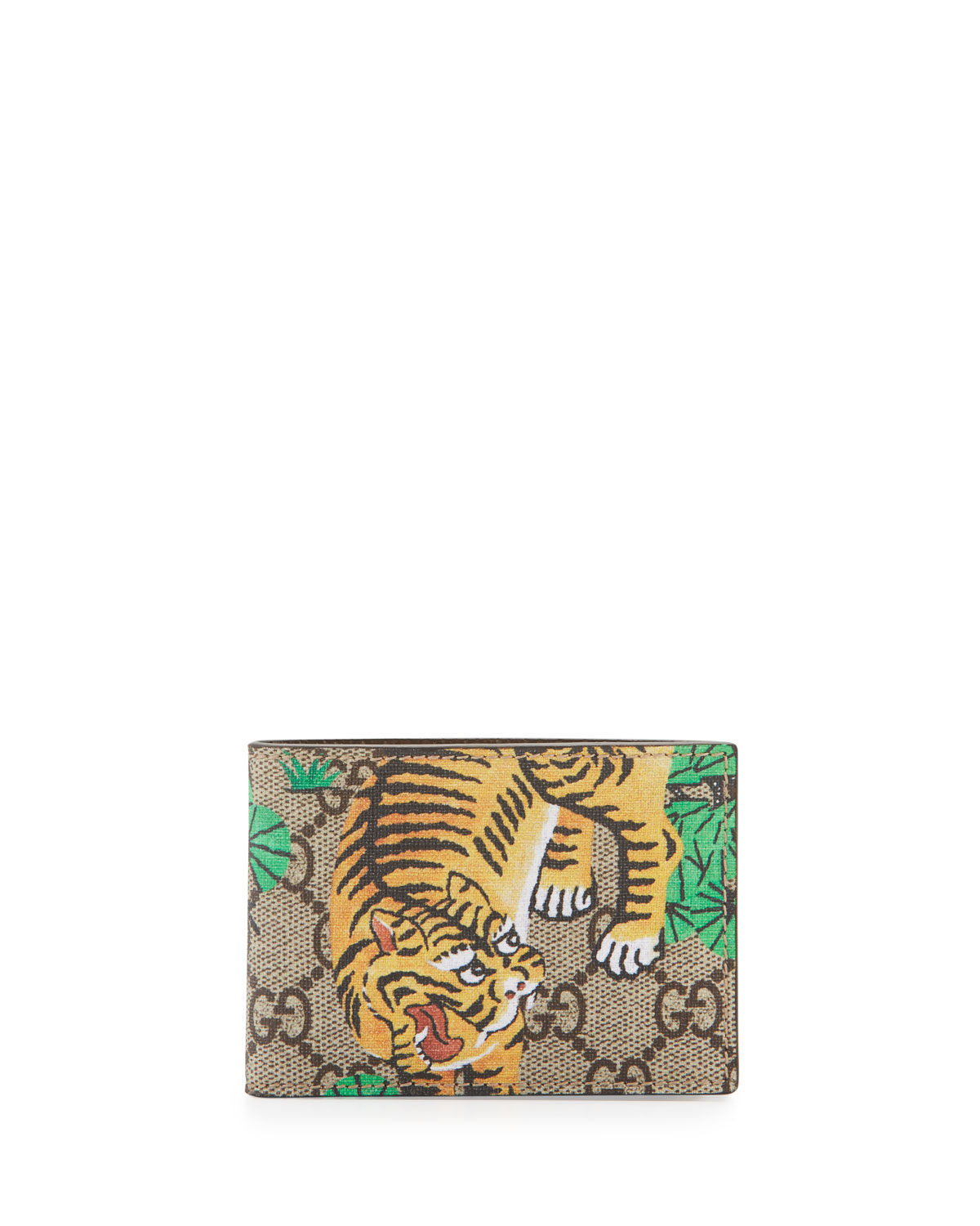 3dba2af399b5 Gucci Bengal GG Supreme Wallet | Neiman Marcus