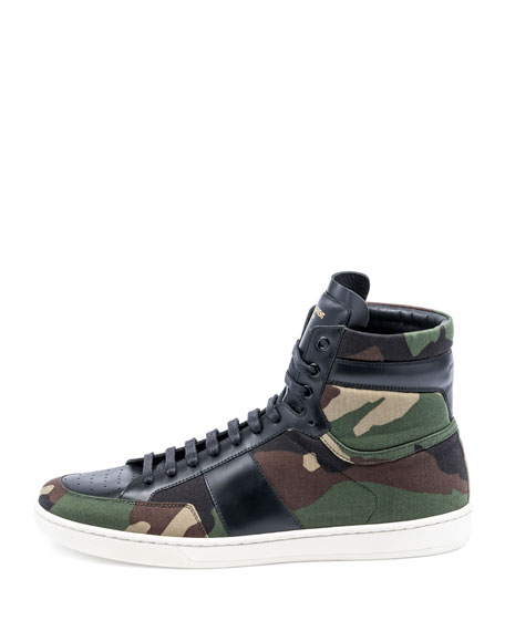 Men's SL/10H Camo-Print High-Top Sneakers