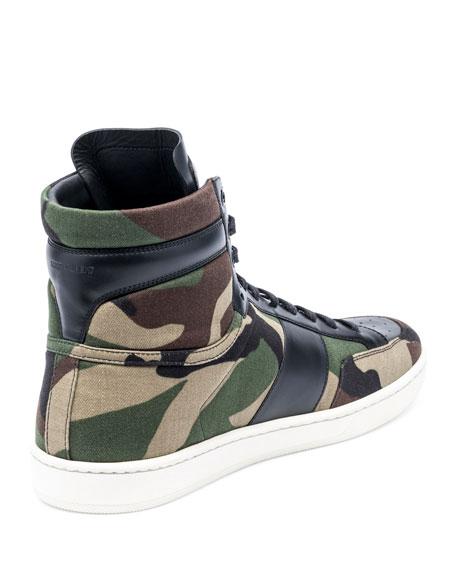 SL/10H Camo-Print High-Top Sneaker