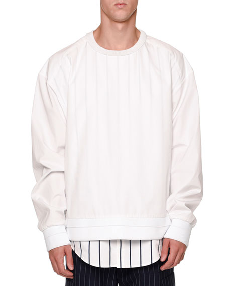 Juun J Double-Layer Sweatshirt & Shirt Combo
