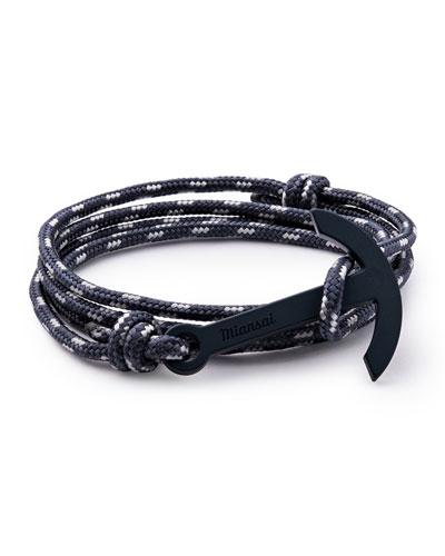 Modern Anchor Rope Bracelet, Navy