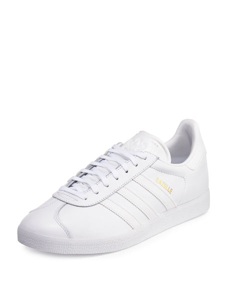 Adidas Men's Gazelle Original Leather Sneaker, White