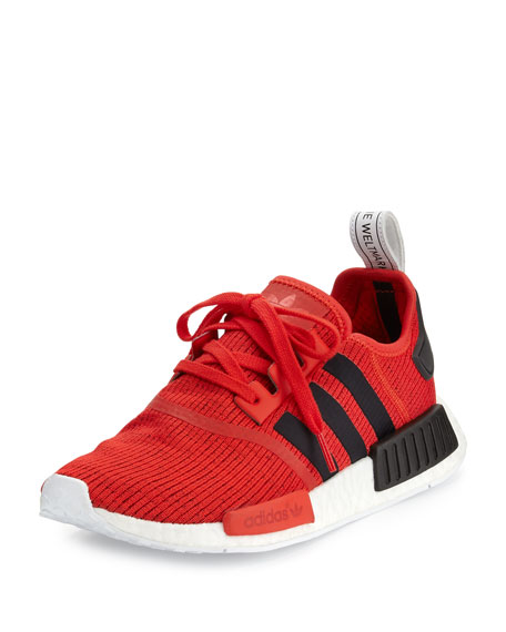 Adidas Men's NMD_R1 Lace-Up Sneaker, Red/Black/White