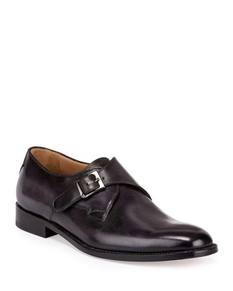 Berluti Classic Roccia Monk-Strap Shoe, Black
