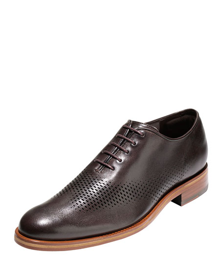 Cole Haan Washington Grand Laser Wing-Tip Oxford, Chestnut