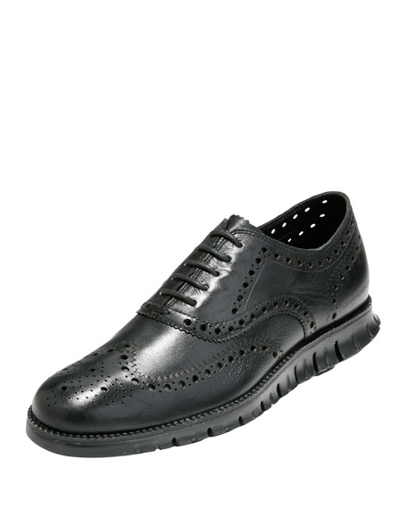 Cole Haan Zerogrand Wing-Tip Oxford, Black