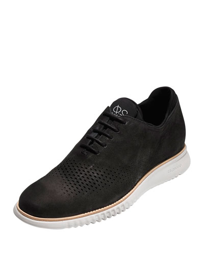 2.Zerogrand Laser Wing-Tip Oxford, Black