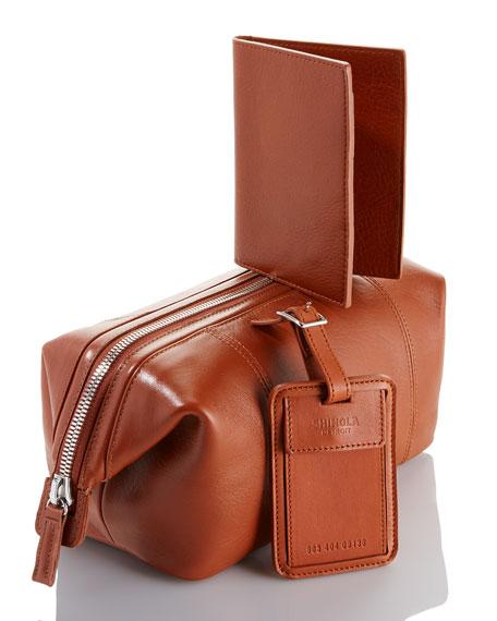 Shinola Frame Leather Travel Kit, Bourbon | Neiman Marcus