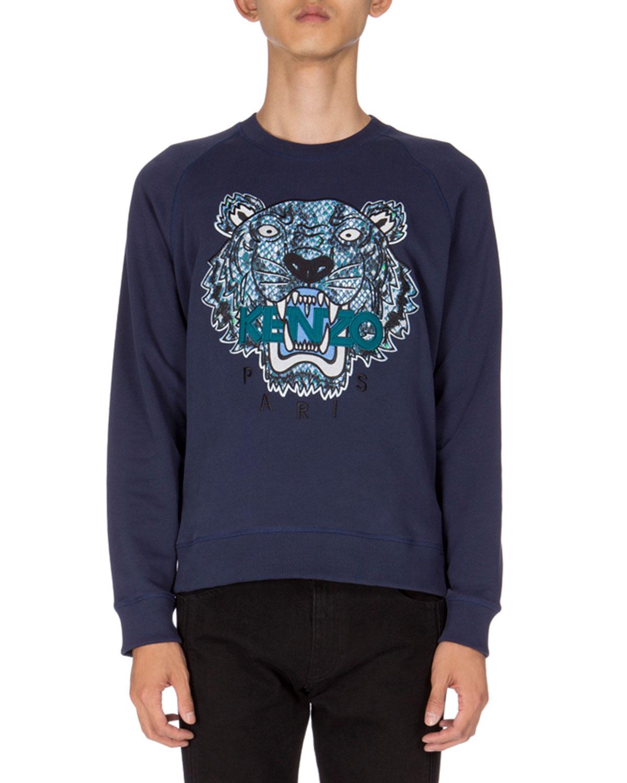 ff23e5788deb Kenzo Python-Print Tiger Logo Sweatshirt