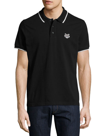 Classic Contrast-Tip Polo Shirt