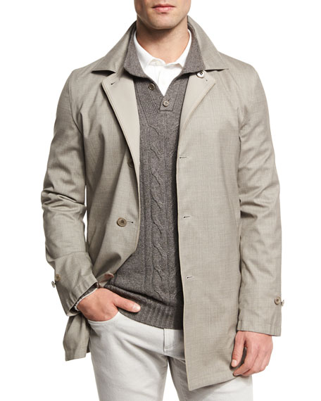 Loro Piana Wind Stretch Storm System® Short Coat