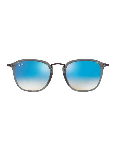 Men's Square Gradient Flash Sunglasses